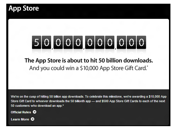 App Store está fazendo grande promoção online (Foto: Divulgação)
