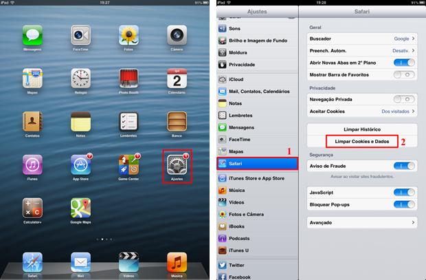 """iOS mostra opção de apagar cookies no menu """"Ajuste"""" (Foto: Thiago Bittencourt/TechTudo)"""