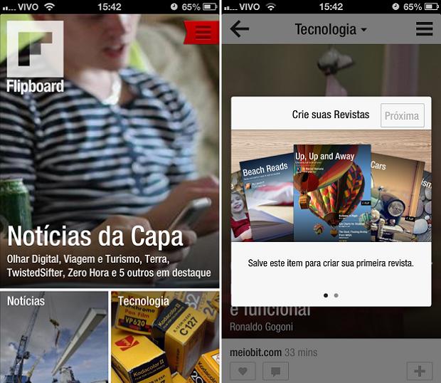 Criar revistas é processo que começa ao curtir uma publicação (Foto: Reprodução/Thiago Barros)