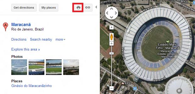 Imprimir mapa do Google Maps é bem fácil (Foto: Reprodução/Thiago Barros)