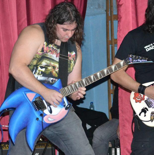 A guitarra do Sonic se tornou marca registrada do MegaDriver (Foto: Divulgação)