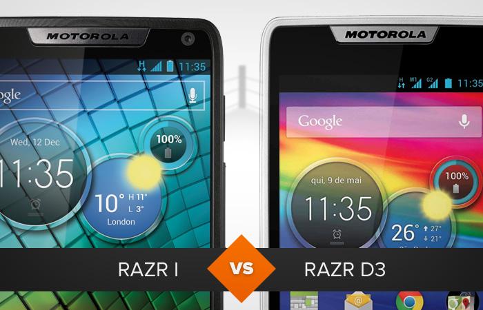 Razr i enfrenta Razr D3 em comparativo entre modelos da Motorola (Foto: Arte / TechTudo)