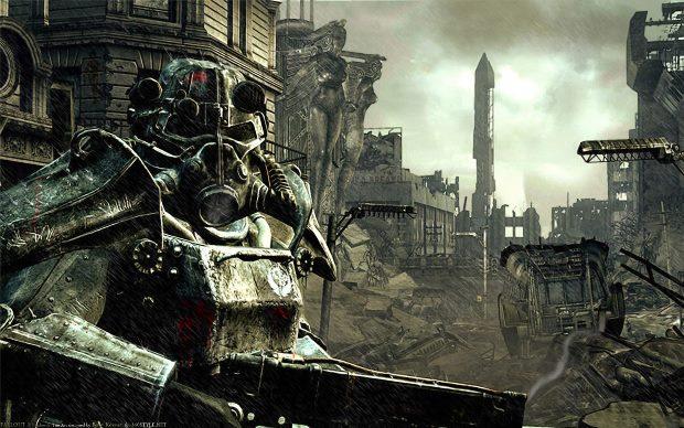 O famoso membro da Brotherhood of Steel de Fallout (Foto: Divulgação)
