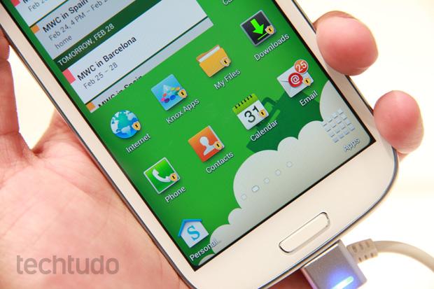 Samsung Knox recebe aval do governo americano; EUA fazia testes em smartphones para determinar o mais seguro para seus funcionários (Foto: Allan Melo / TechTudo)