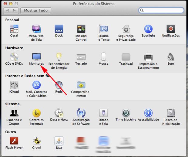 Escolhendo a configuração de Monitor (Foto: Reprodução/Hugo Carvalho)