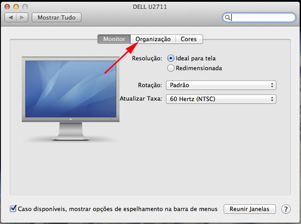Obtendo informações sobre o monitor (Foto: Reprodução/Hugo Carvalho)
