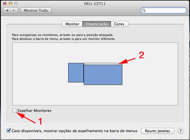 Organizando a posição de seus monitores (Foto: Reprodução/Hugo Carvalho)