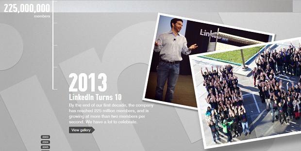 Funcionários do LinkedIn formam o número 10 para celebrar dez anos (Foto: Divulgação / LinkedIn)