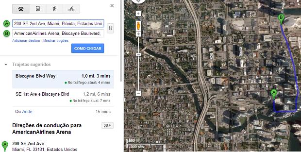 Busca tradicional do Maps já ajuda bastante em viagens (Foto: Reprodução/Aline Jesus)