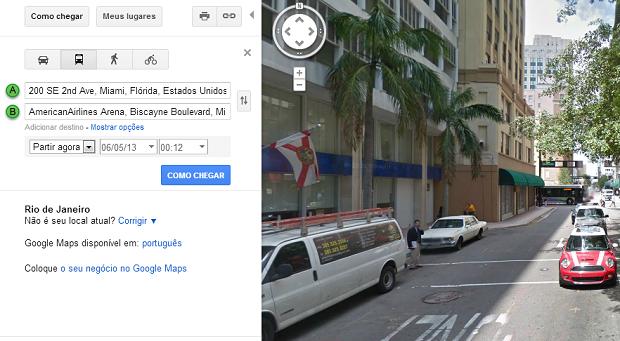 Street View mostra imagens reais do local procurado (Foto: Reprodução/Aline Jesus)