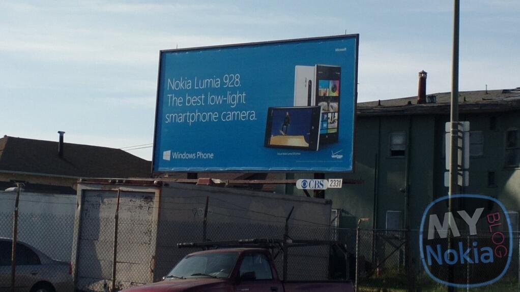 Suposto outdoor do Lumia 928 sugere que o aparelho pode ser apenas um pequeno upgrade do Lumia 920 (Foto: Reprodução / My Nokia Blog)