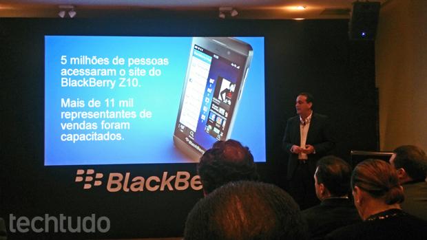 BlackBerry Z10 foi oficialmente lançado no Brasil, com preço alto (Foto: Allan Melo/TechTudo)