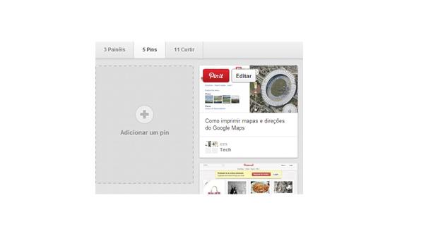 Editando um pin no Pinterest (Foto: Reprodução/Thiago Barros)