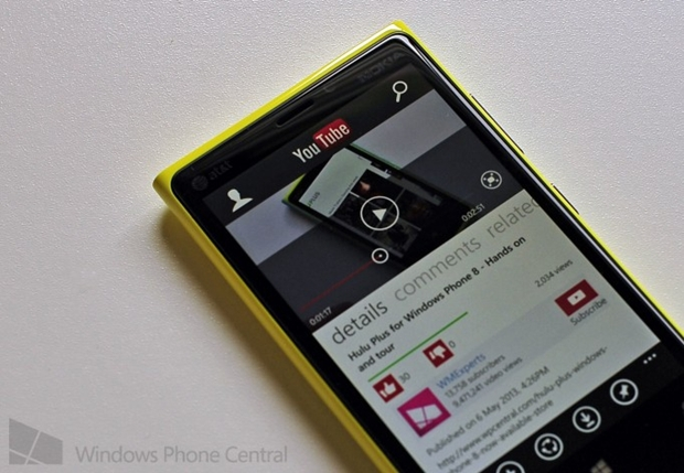 A nova versão do YouTube foi totalmente redesenhada a fim de tirar o máximo partido das características do Windows Phone 8 (Foto: Reprodução/Windows Phone Central) (Foto: A nova versão do YouTube foi totalmente redesenhada a fim de tirar o máximo partido das características do Windows Phone 8 (Foto: Reprodução/Windows Phone Central))
