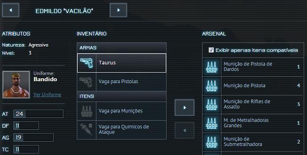 Personalização de personagem é feita nesta tela (Foto: Reprodução/Thiago Barros)