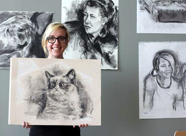 Kristy Jane From-Brown utilizoucarvão para realizar seu trabalho (Foto: Divulgação)