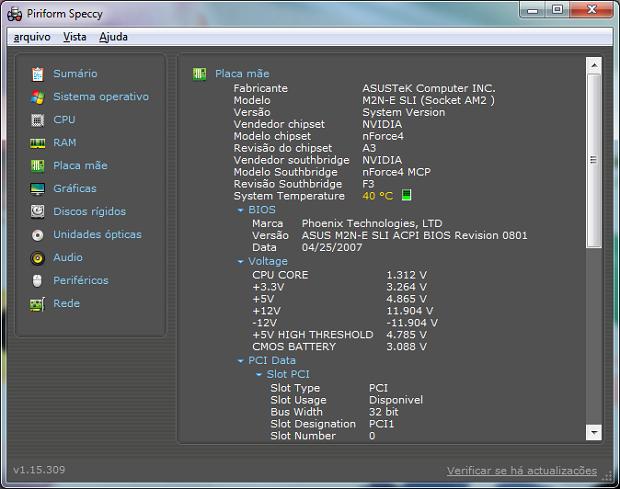 Speccy registra a temperatura do computador  (Foto: Reprodução/Helito Bijora)