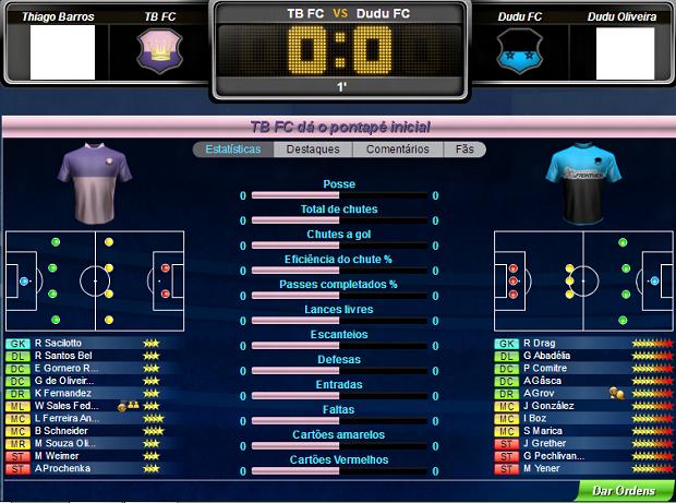 Esta é a tela de jogo do Top Eleven (Foto: Reprodução/Thiago Barros)