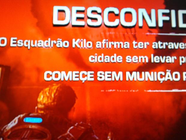 Erro em Gears of War capturado pelo leitor do TechTudo (Foto: Raphael Lorencini)