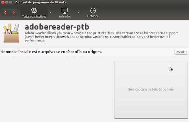 Instalando o Adobe Reader (Foto: Reprodução/Helito Bijora)