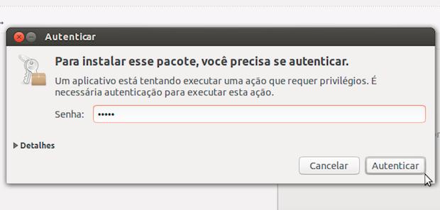 Autenticando no Ubuntu (Foto: Reprodução/Helito Bijora)
