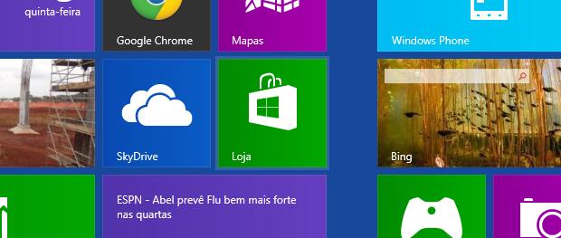 Abrindo a loja do Windows 8 (Foto: Reprodução/Helito Bijora)