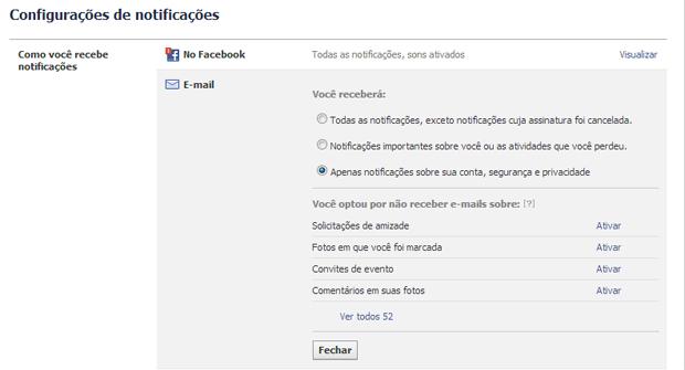 Marcando a última opção, você não receberá mais notificações do Facebook (Foto: Aline Jesus/Reprodução) (Foto: Marcando a última opção, você não receberá mais notificações do Facebook (Foto: Aline Jesus/Reprodução))