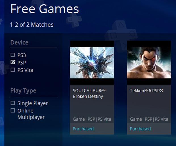 Até mesmo jogos de PSP são disponibilizados no PS Plus (Foto: Reprodução)