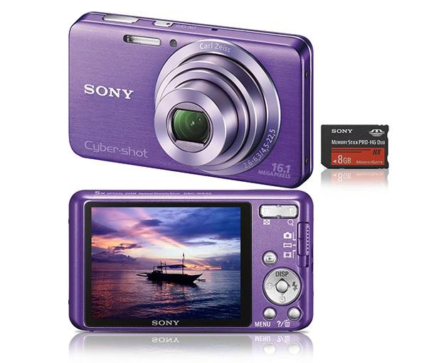 Sony compacta tem cor lilás e é bem feminina (Foto: Divulgação)