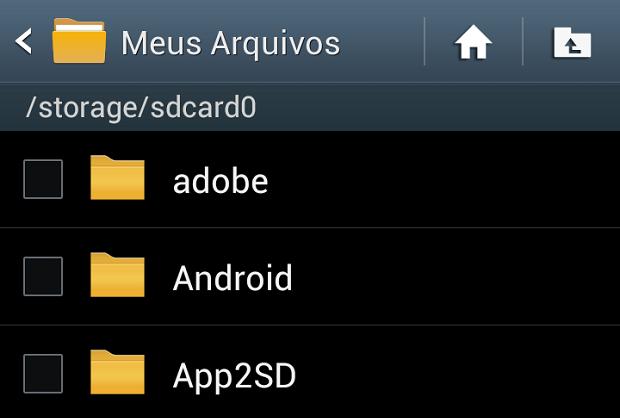 Aqui, você vê os apps instalados no celular (Foto: Reprodução Thiago Barros)