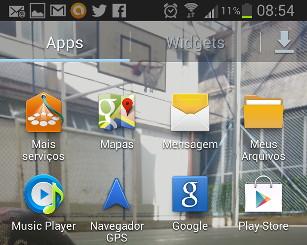 Mudança começa na aba Meus Arquivos do Android (Foto: Reprodução Thiago Barros)