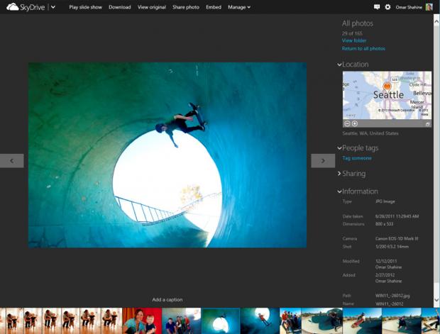 Fotos também podem ser visualizadas como em um slideshow (Foto: Reprodução/TheNextWeb)