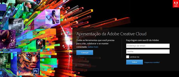 Creative Cloud pode ser acessado pelo site da Adobe (Foto: Reprodução/Thiago Barros)