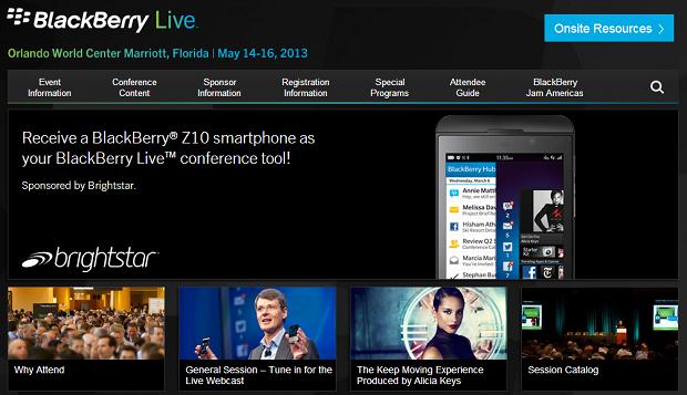 Evento da BlackBerry começa nesta terça-feira (Foto: Reprodução/BlackBerry Live)