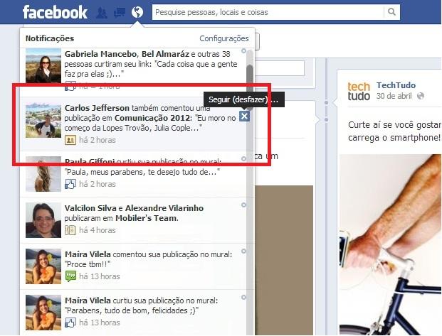 Deixe de receber notificações em posts que comentou (Reprodução/ Guilherme Godin)