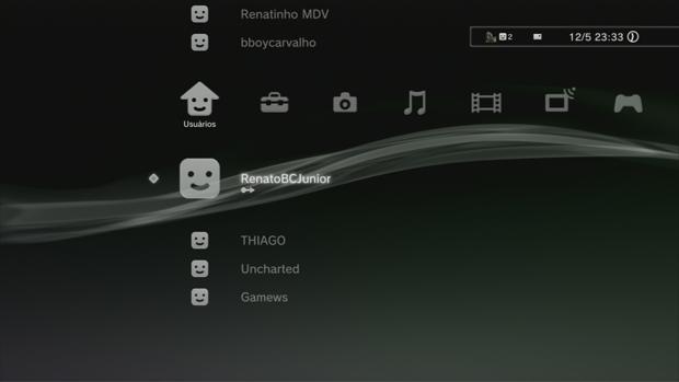 O PS3 oferece suporte para um sistema de usuários múltiplos. (Foto: Reprodução)