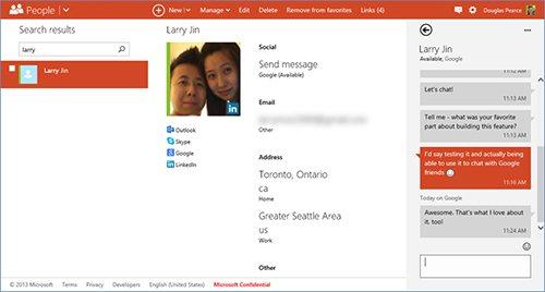 Outlook.com e Skydrive ganham suporte para Google Talk. (Foto: Reprodução / Outlook Blog)