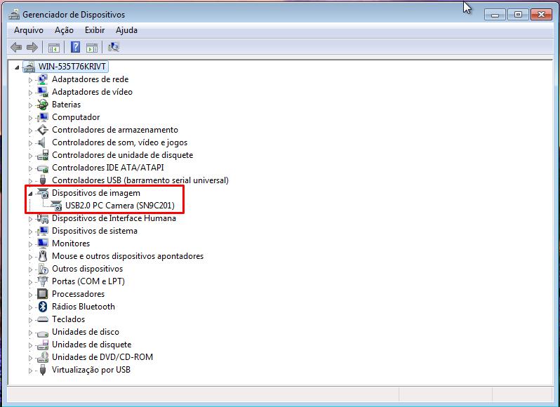 Após encontrar o driver no site da fabricante, a WebCam passou a funcionar corretamente (Foto: Reprodução/Thiago Bittencourt)