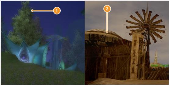 Comparativo entres os gráficos de Perfect World e Cabal Online (Foto: Reprodução/Silas Tailer)