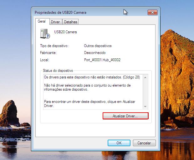 """Clique em AtualizClique em """"Atualizar Driver..."""" para que o Windows realize a atualização (Foto: Reprodução/Thiago Bittencourt)ar"""