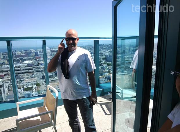 Foto tirada com o Google Glass no escritório do Google, em São Francisco (Foto: Marcello Azambuja / TechTudo)