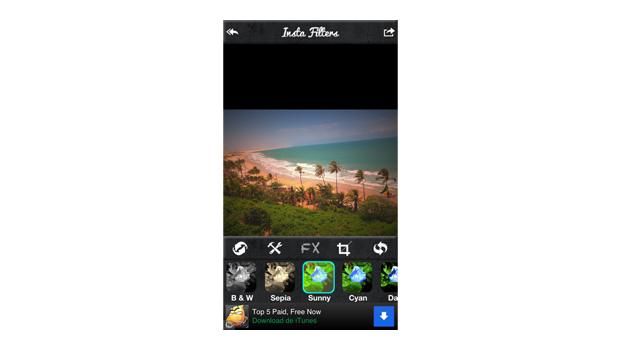 InstaFilters para iOS oferece mais de 70 opções de filtros (Foto: Reprodução/Aline Jesus)