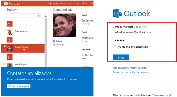 Acessando o Outlook.com (Foto: Reprodução/Edivaldo Brito)