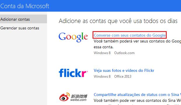 """Acessando a opção """"Conversar com seus contatos do Google"""" (Foto: Reprodução/Edivaldo Brito)"""