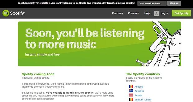 Spotify está disponível em mais de 30 países, mas não no Brasil (Foto: Reprodução/Thiago Barros)