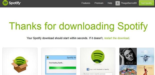 Spotify pode ser baixado usando programa mascarador de IP (Foto: Reprodução/Thiago Barros)