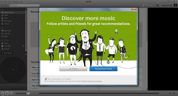 Esta é a tela de boas vindas do Spotify (Foto: Reprodução/Thiago Barros)