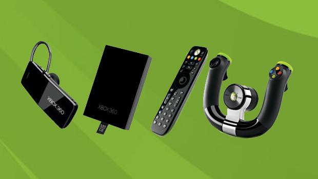 A Microsoft oferece inúmeros acessórios para turbinar seu Xbox 360. (Foto: Divulgação)