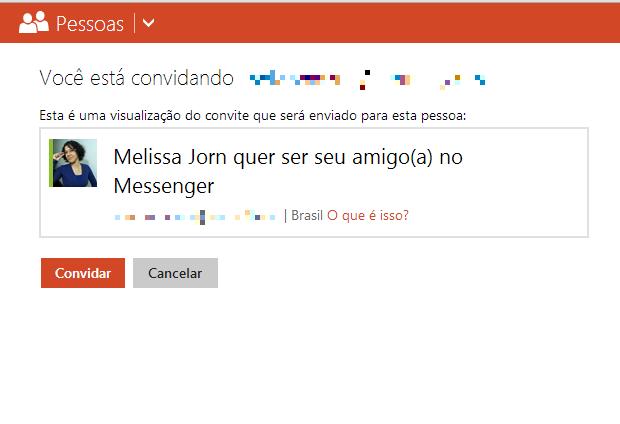 Convide contatos para o Messenger (MSN) usando o aplicativo 'People' (Foto: Reprodução / Melissa Cruz)