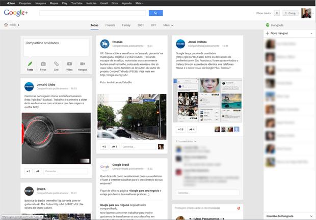 O Google+ está de cara nova e com uma série de novos recursos. (Foto: Elson Junior)